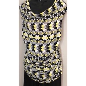 Alfani cowl neck geometric top